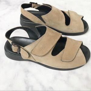Wolky Nubuck Suede Walking Sandals